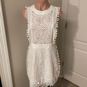 Forever 21 White Overall Dress Sz M